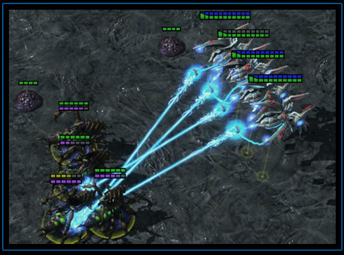 Starcraft 2. Королева против Излучателей Пустоты